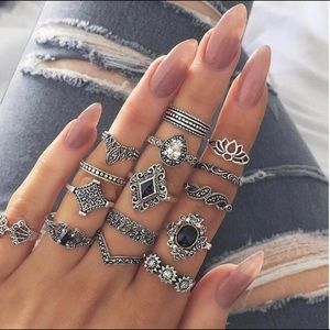 15 Pieces Boho Rings NEW